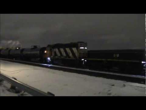CN Yard 7516 (Mixed) @ Union (Edmonton) Alberta 18FEB13 HBU-4 518 Leading