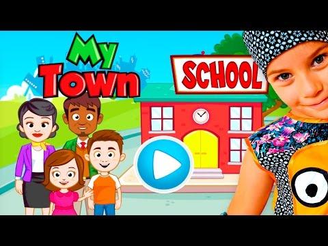 Смешное ВИДЕО ДЛЯ ДЕТЕЙ Новый мультик ПРО ШКОЛУ детская игра My Town