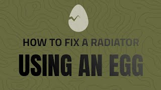 How to fix a Radiator using an Egg OPP Style!
