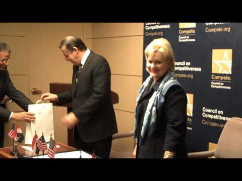 H.E. Rachid Mohamed Rachid and President Deborah Wince-Smith Sign Memorandum of Understanding