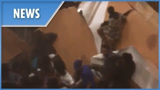 Moment floor collapses at a South Carolina house party