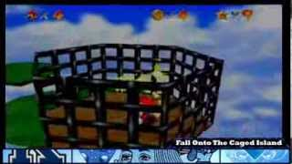 Super Mario 64: Whomp's Fortress - Fall Onto The Caged Island