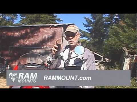 Ram Mount XGrip Installed On KLR 650 Gadget Product Review with Billy Carmen Product News Channel