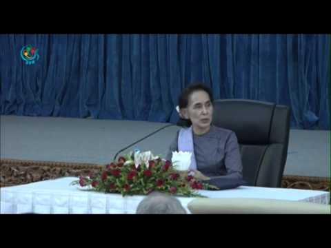 DVB - FM Daw Aung San Suu Kyi speech to dipolmats