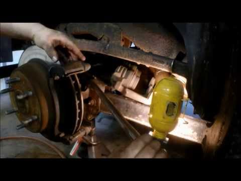 how to replace gm suv rear brakes and rotors  2000-2007
