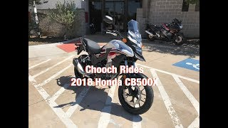 Chooch Rides - 2018 Honda CB500X
