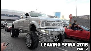 Leaving SEMA 2018 Part 2 | 15 Min of vehicles!