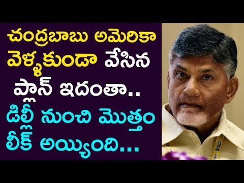 This Is The Plan That Stoping Chandrababu Not To Go  America.. ! The Whole leak From Delhi !