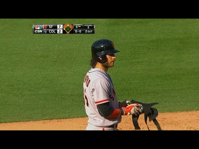 SF@COL: Crawford tallies three hits, three RBIs