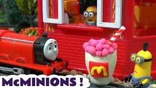 Despicable Me 3 Minions McDonalds Drive Thru Play Doh Burger Happy Meal Toys Cars Thomas Train TT4U