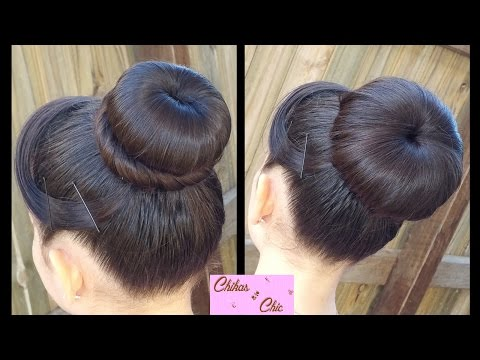 Classic Donut Bun (2 Options!) | Quick and Easy Hairstyles | juda hairstyle | Dance hairstyles