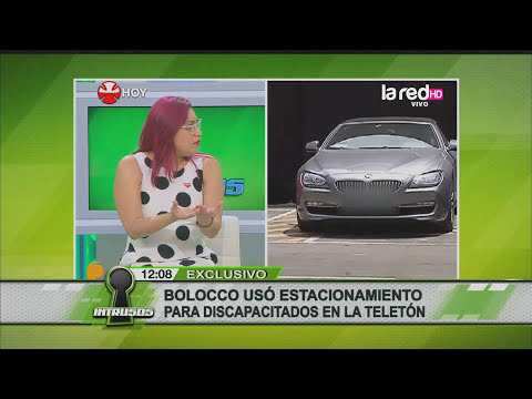 Cecilia Bolocco en estacionamiento para discapacitados