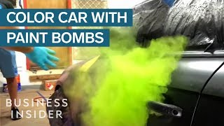 How To Paint Your Car With Colorful Powder Bombs