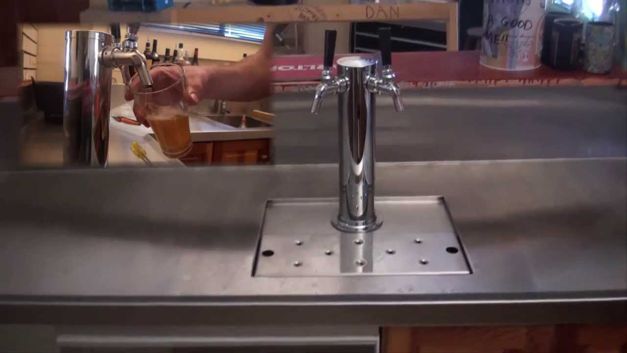 How To Build A Bar Best Man Cave Bar Ever Full Kegerator Beer System Through Bench Youtube