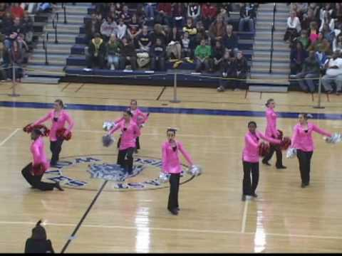 Plainfield Central Pomcats - Elvis Presley pom dance routine - Jail House Rock TDI competition 2009