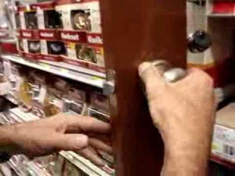 How to tighten door handles with hidden screws. Kwikset Schlage Yale Ezset Mortice