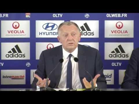 Conférence de presse d'Hubert Fournier à l'Olympique lyonnais
