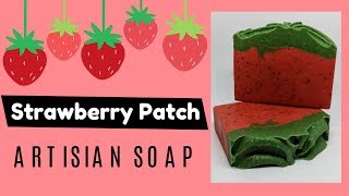 The making and cutting of Strawberry Patch- raw goat milk soap