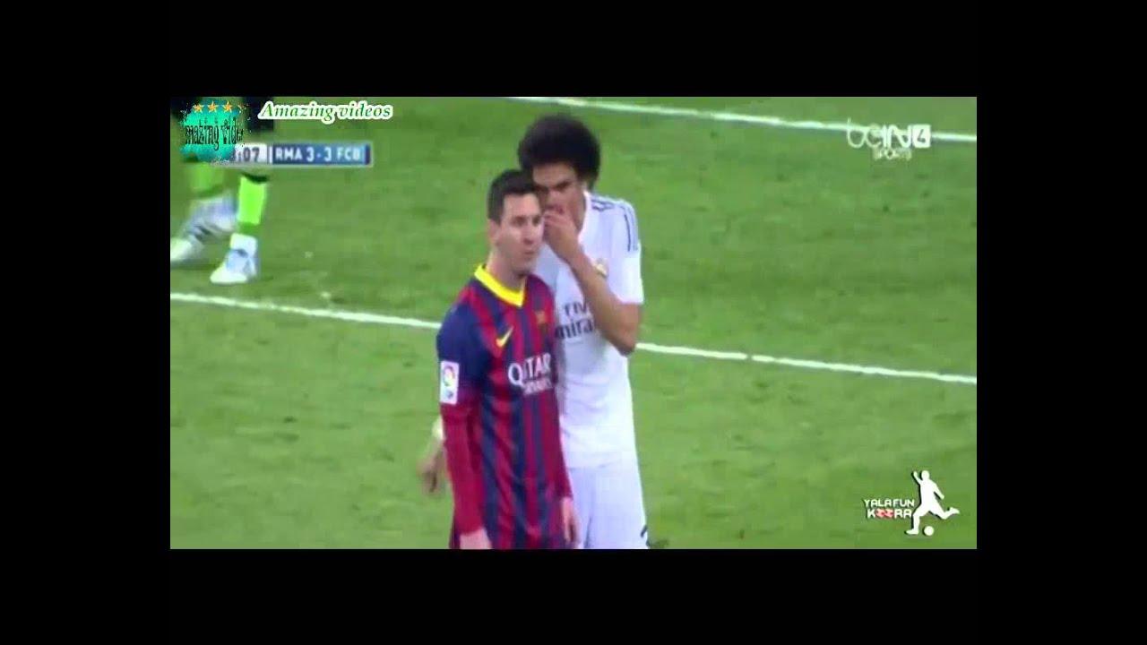 Messi 2014 Clasico Messi y Pepe en el Clásico