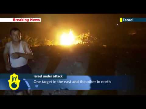 Israel under attack by Hamas terrorists from Gaza  Israel responds with IDF strikes