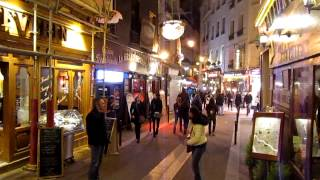 Paris, France in night (latin quarters) April 2014
