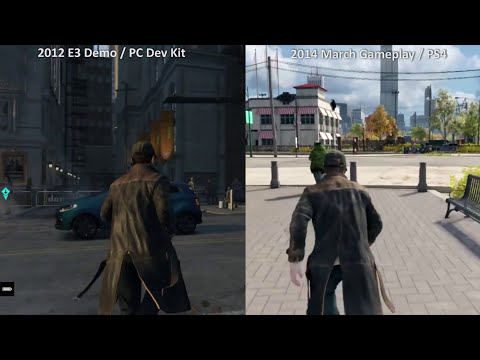 Watch Dogs Graphic Comparison Part 1 (2012 VS 2013 VS 2014) PC Dev Kit, PS4 Dev Kit, PS4