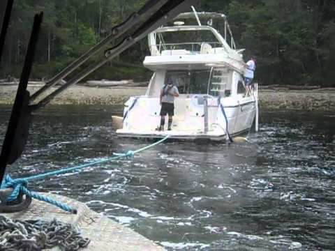 C-Tow vessel refloat Desolation Sound Part 1