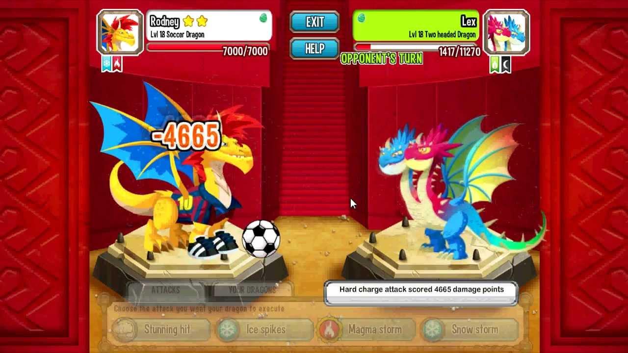 Dragon City Weakness of All Dragons Dragon City Soccer Dragon vs