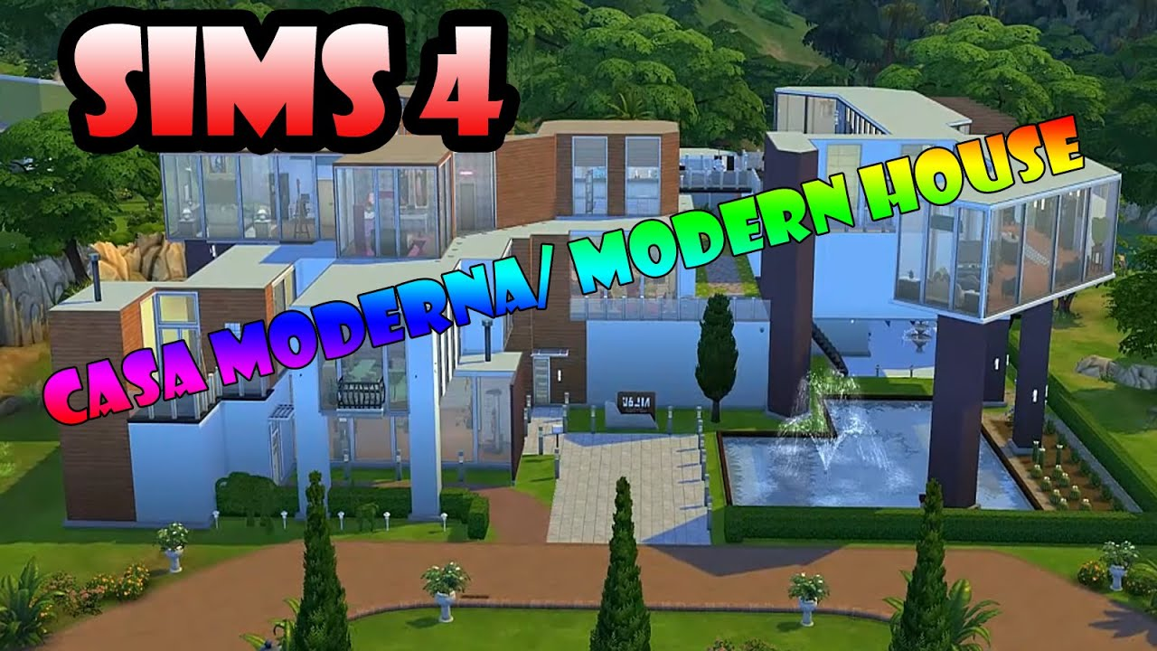 Los sims 4 casa moderna modern house descarga for Sims 4 piani di casa