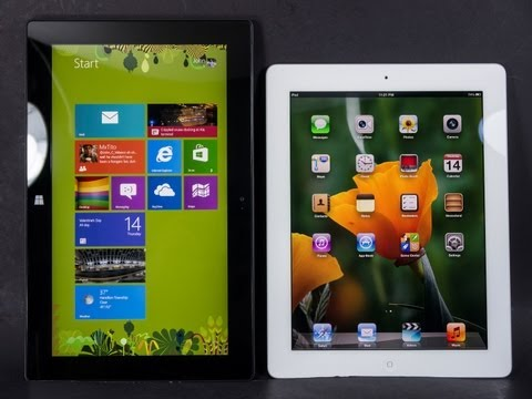 Microsoft Surface Pro vs Apple iPad 4