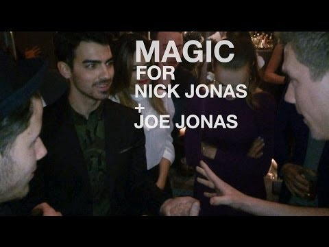 Nick & Joe Jonas FREAK OUT at magic!