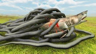 GIANT SNAKE vs SHARK - Beast Battle Simulator