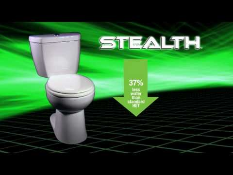 Niagara Conservation's Stealth™ 0.8 GPF UHET -- World's 1st Ultra High-Efficiency Toilet