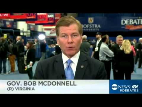 Second Presidential Debate Preview   Gov  Bob McDonnell   Romneys Warmth Will Come Through