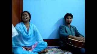 Bangla folk song Moner dukkho mone roilo