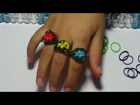 Anyone can make this Cool  Rainbow Loom starburst ring