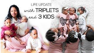 Life with Triplets + 3 Kids | UPDATE vlog | We're Back! Video Compilation