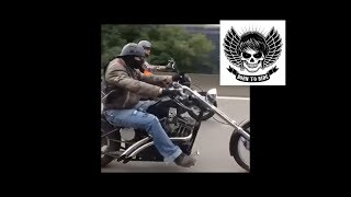 Johnny Hallyday escort & 100 Bikers Harley Davidson .. Soundtrack Jimi Hendrix !!!