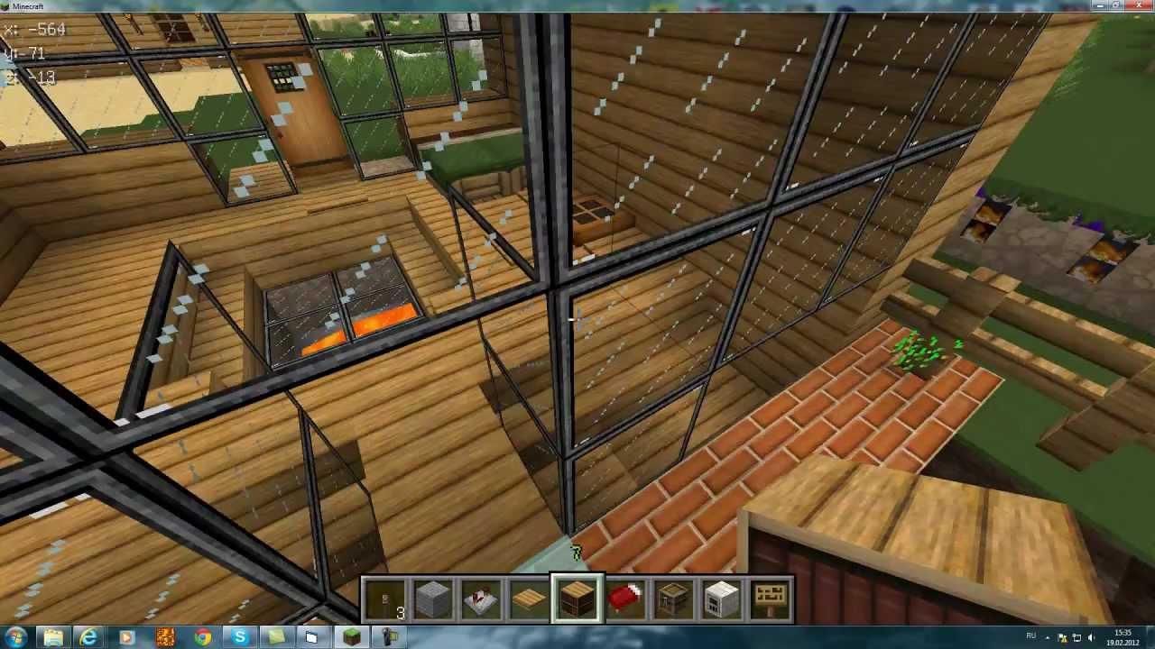 Как сделать дом в майнкрафте с механизмами