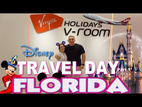 We Travel To Walt Disney World Florida, BUT FIRST Shopping & Virgin's V-ROOM TOUR at Gatwick Airport