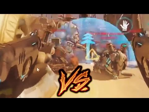 Overwatch Bronze Moments #16 - Tracer VS 6 AFK Players