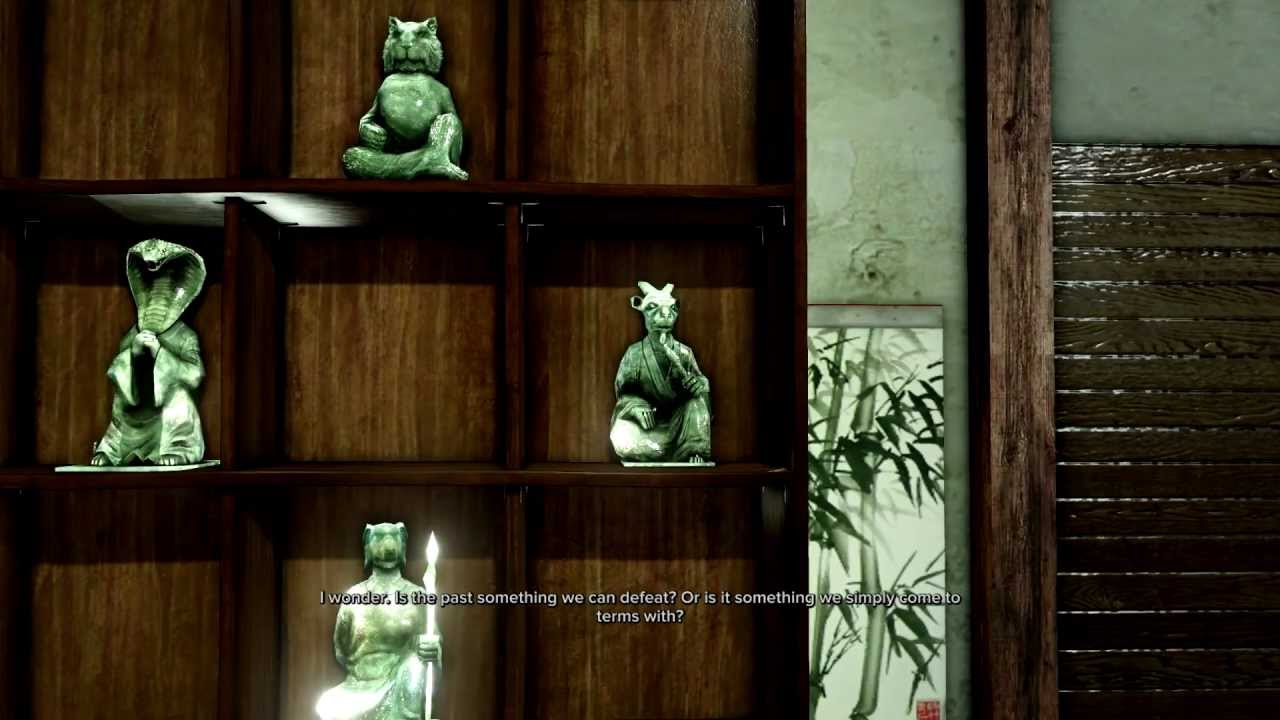 Sleeping Dogs Jade Statues Pictures