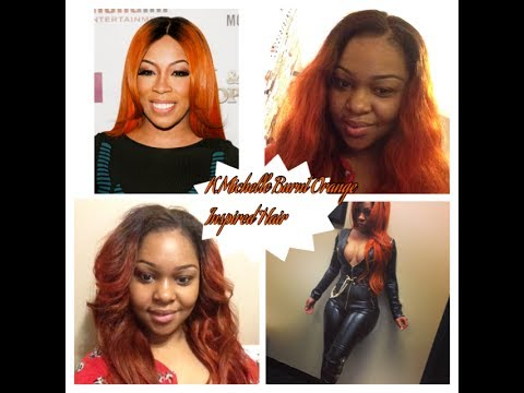 K Michelle Burnt Orange Inspired Hair Cut Amp Styled