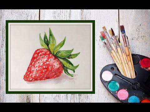 Видео как нарисовать клубнику