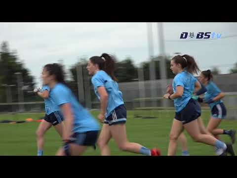 The Dublin Ladies training hard ahead of All-Ireland semi-final