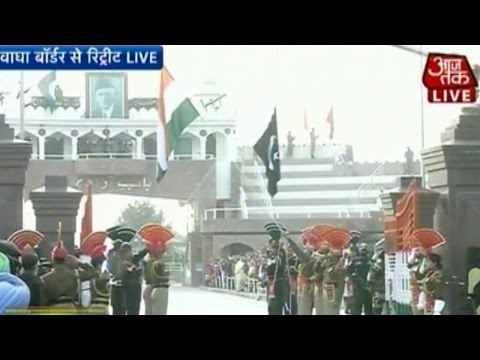 R-day: Women Perform Beating Retreat Ceremony At Wagah Border (live) video