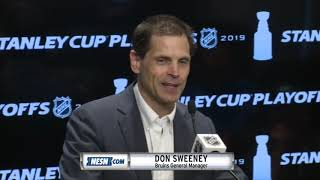 Don Sweeney on Bruins heading to Stanley Cup Final