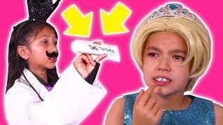 DENTIST PRANKS 😬 Malice Tricks Olivia With Magic Toothpaste! - Princesses In Real Life | Kiddyzuzaa