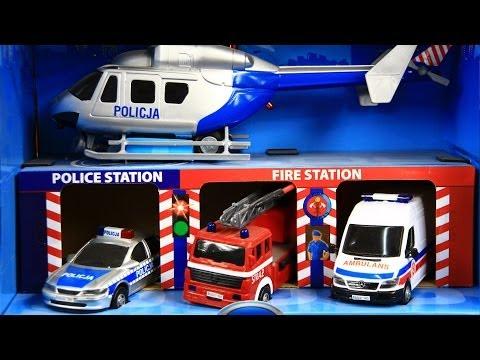 S.O.S. Garage / Zestaw Pojazdów Slużb S.O.S.- Dickie Toys - Simba - www.MegaDyskont.pl