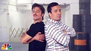 """Breakdance Conversation"" with Jimmy Fallon & Brad Pitt"